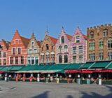 Brügges Grote Markt und farbenfrohe Häuser