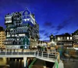 Zaandam centre at night