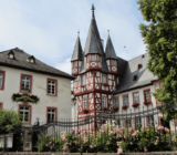 Rüdesheim along Rhine River city center